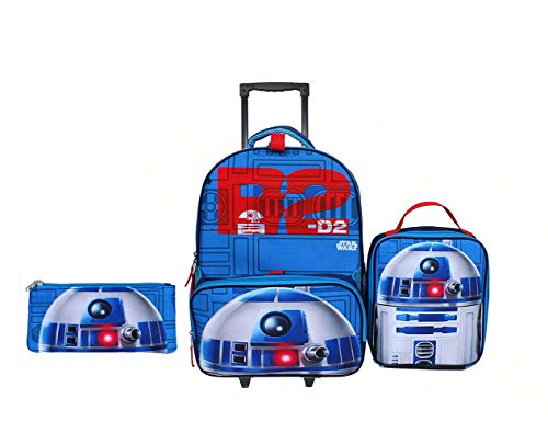 - New Star Wars 3 pcs Rolling Backpack w Lunch Box and Pencil Case