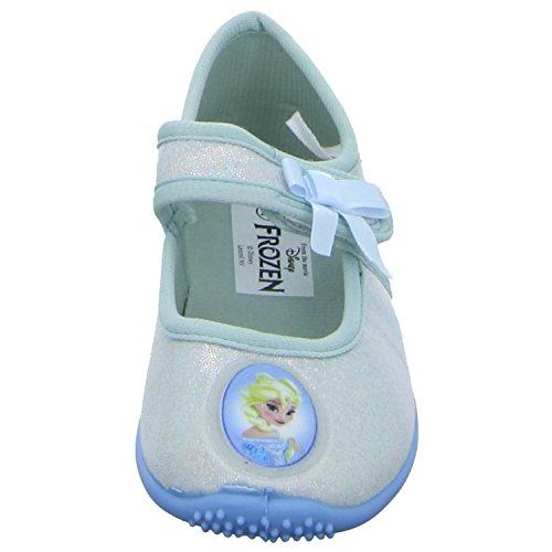 Disney Frozen FZ004259/357 Mädchen Hausschuh Kaltfutter Weiß (Silber)