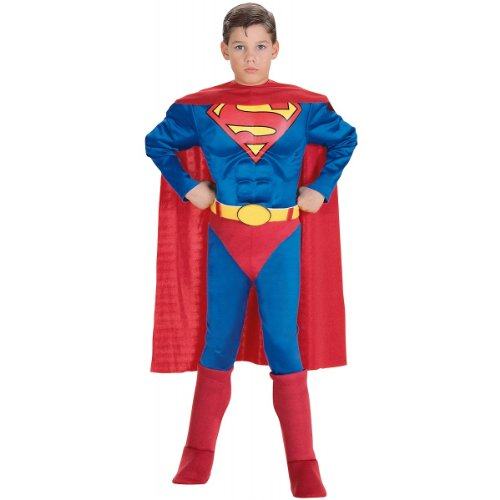 Super DC Heroes Deluxe Muscle Chest Superman Costume, Toddler -