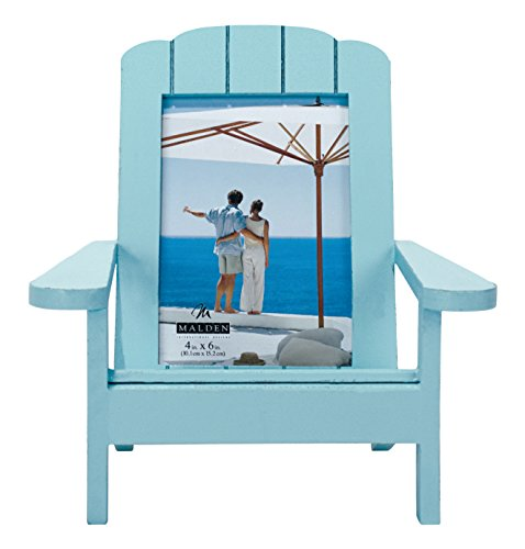 Malden International Designs Shoreline Adirondack Dimensional Wooden Chair Frame, 4x6, Turquoise