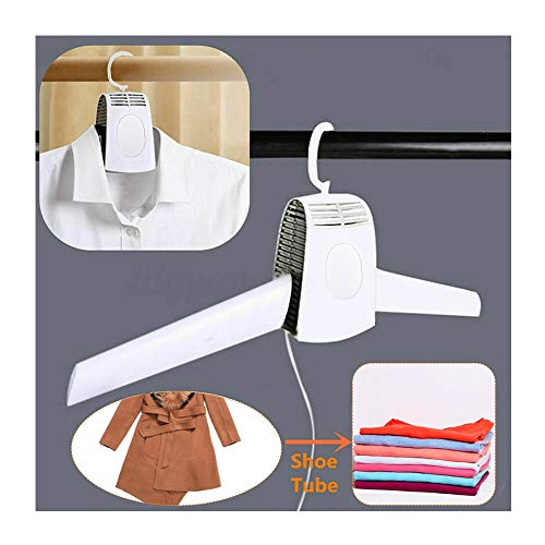 Electric Clothes Drying Rack – Clothes Hanger Dryer Portable Clothes Dryer Fast Drying Cloth Suit Hanger Dryer Electric Portable Travel Household Dryer for Trip Home