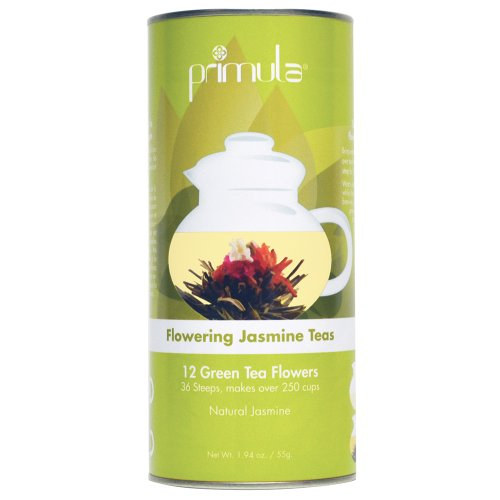 Primula Tea Flowers – 12-Pack – 36 Steeps, Makes 250 Cups – Green Tea Flowers with Natural Jasmine – Handpicked Ingredients