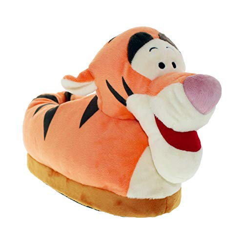 7012-3 - Disney Winnie The Pooh - Tigger Slippers - Medium/Large - Happy Feet Mens and Womens Slippers