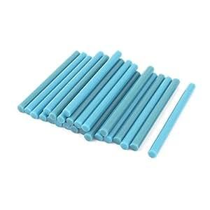 24 piezas Azul Hot Melt pegamento pistola adhesiva Sticks 7 mm x 100 mm
