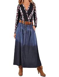 Chambray Chic Denim Skirt