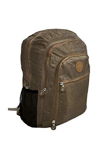 Mochila Feminina Fashion Bag Style Em Crinkle Várias Cores (Bege)