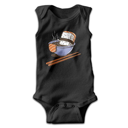 Sushi Food 100% Cotton Infant Sleeveless Onesies 18 Months