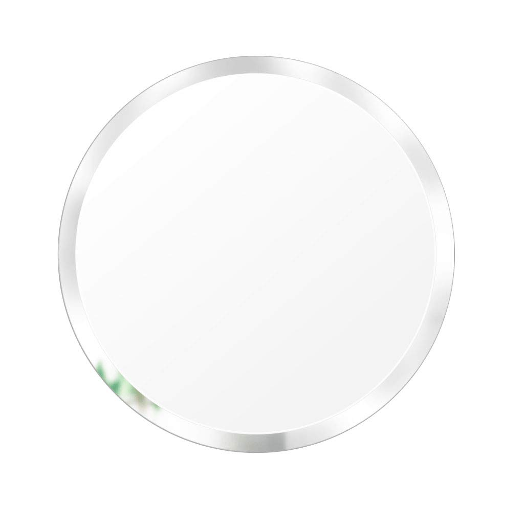 500X500X4MM Wall-Mounted Mirror Modern Round Glass Complete Kit   Bathroom   Makeup   Home   Living Room   Hallway