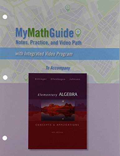 MyMathGuide for Elementary Algebra: Concepts & Applications Plus NEW MyLab Math with Pearson eText -- Access Card Pa