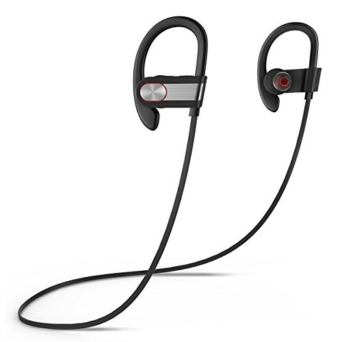 Picun H9 Bluetooth Headphones with Microphone, Wireless Sport Earbuds with Mic, Splashproof & Sweatproof, Stereo Music Earphones, Handfree Headset for Gym/Working Out/Running (Black Gray) (Best Of Stereo Nation)