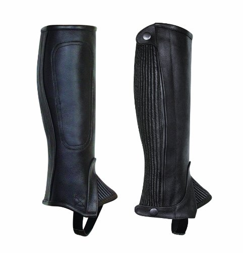 (Perri's Children's Professional Half Chaps, Black, Large)