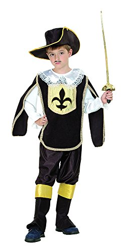 Bristol Novelty CC967 Musketeer Boy Costume, White, Small, Approx Age 3 -5 Years, Musketeer Boy (S) ()