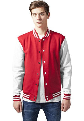 universitario Sudadera Urban rojo Classics blanco estilo de 0zqBx6O