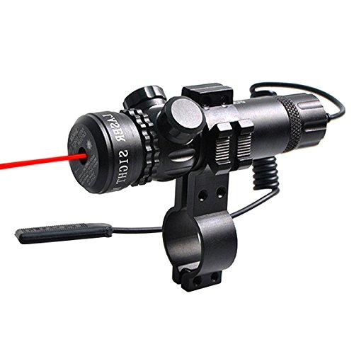 Micnaron Compact Tactical Red Laser Adjustable Rifle,Beam Dot Sight Scope for Gun Rifle Pistol Picatinny Mount - Gun Laser Beam