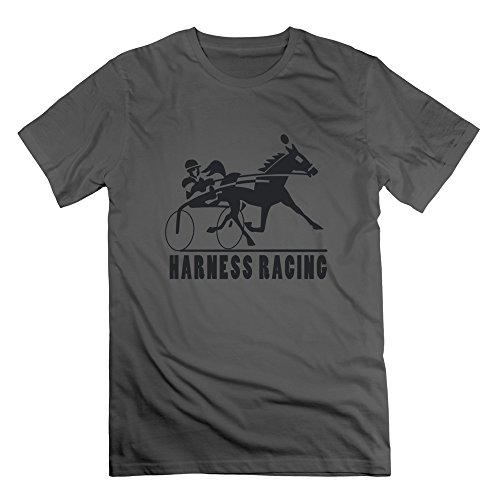 Qincent Male 100% Cotton T-shirt Harness Racing ()