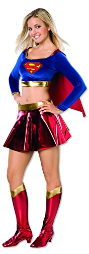 Heroes Cheerleader Costume Halloween (Rubie's Costume Co Women's DC Superheroes Supergirl Teen Costume, Multi, Teen)