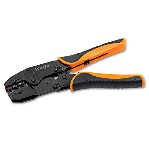 Crimping Tool For Insulated Electrical Connectors – Ratcheting Wire Crimper – Crimping Pliers – Ratchet Terminal Crimper…