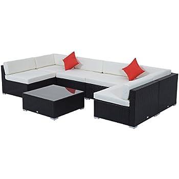 Amazon Com Set Of 10 Outdoor Patio Wicker Furniture