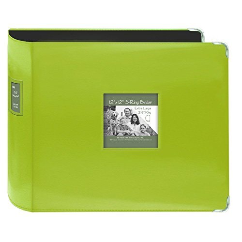 Pioneer Jumbo 3-Ring Bright Green Scrapbook Binder with Bonus Refill Pack (12x12) ()