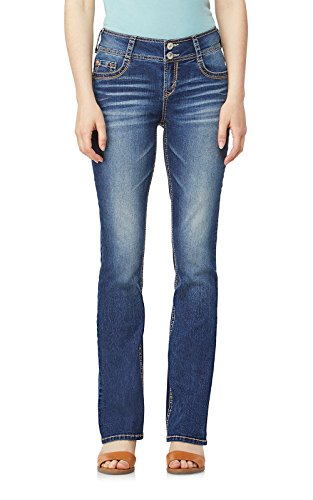 WallFlower Junior's Instastretch Luscious Curvy Bootcut Jeans, Twinkle, 11 Long