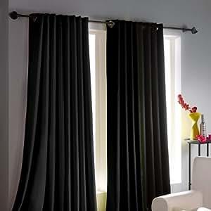Ac d co juego de 2 cortinas con anillas integradas antimanchas f cil limpieza 140 x 260 cm - Anillas de cortinas ...
