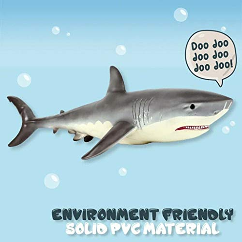 17cm Shark Shaped Toy Realistic Motion Animal Model C4P5