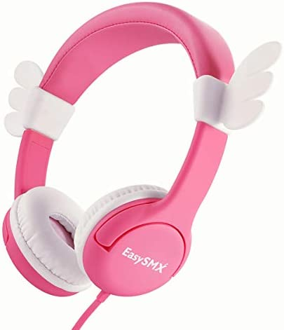 Kids Headphones Girls – EasySMX School Headphones, 3.5mm Children Headset 85dB Volume Limited for Age 2 12