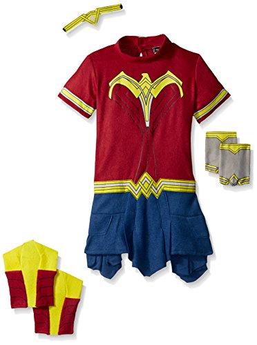 Rubie's Costume Dawn of Justice Wonder Woman EZ-On Costume Romper, 2T -