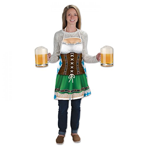 Oktoberfest Fraulein Costumes For Adults (Beistle 54625 Fraulein Fabric Novelty Apron)
