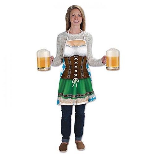 Oktoberfest Fraulein Costumes For Adults (Beistle 54625 Fraulein Fabric Novelty Apron)