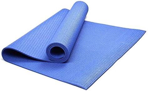Yoga mat ヨガマットカスタムソリッドカラーのヨガノンスリップヨガマット workout (色 : Blue)