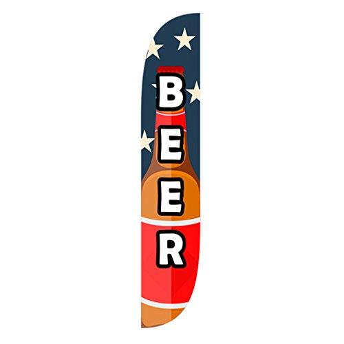 lookourway cerveza la bandera americana Bandera de plumas, 12'
