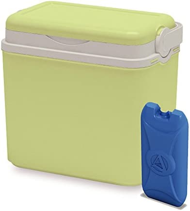 ADRIATIC 10 Litre Cooler Box Camping Beach Picnic Travel Insulated Coolbox Cooler Box 1 Ice Pack Lime