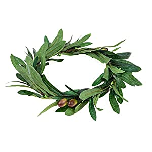 Floral Fall Artificial Olive Leaf Greece Flower Halo Bridal Headpiece Greenery Crown HC-32 107