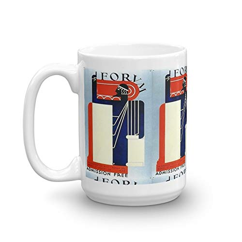 Roman Senator And The Evolution of Free Speech 15 Oz Classic Coffee Mugs, C-handle And Ceramic Construction. 15 Oz Fine Ceramic Mug With Flawless Glaze Finish ()