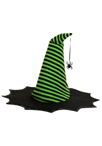 Lime Striped Witch Costumes (Princess Paradise Kids Spiderina Hat)