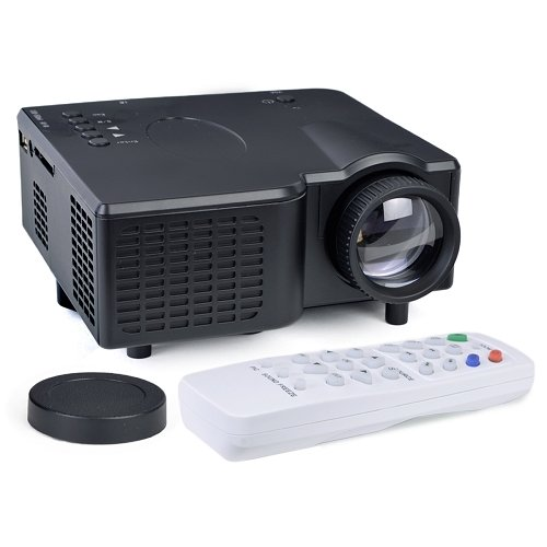 Alta Portable Mini LED Projector HDMI VGA USB LCD Image SD Slot & Remote - Black by Altatac