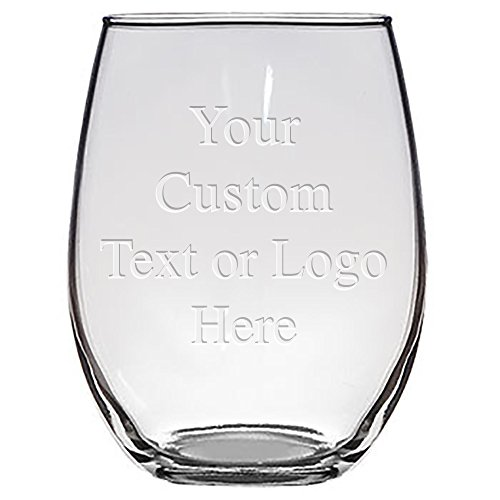 Custom Monogrammed Personalized Stemless Wine Glasses - Bridesmaid Gifts, Laser Engraved Customized for