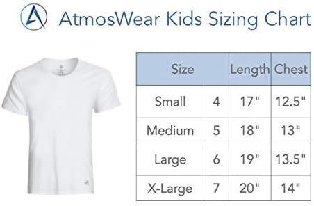 Quality Nylon Blend Dryfit Shirts for Boys /& Girls White: 3 Pack AtmosWear Kid/'s Undershirt Youth Athletic Shirt
