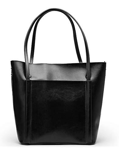 WDBAO Borsa Da Donna Primavera Ed Estate Borsa Shopping Bag Con Tracolla Da Donna Black