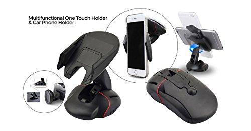 Supporto holder auto o casa con attacco a ventosa per smartphone e gps SHINRA flip car phone holder compatibile iPhone Samsung Huawei