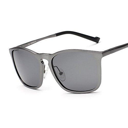 de Protección UV Marco Gafas polarizadas de SunglassesMAN Color Aviator Hombre 400 Gray para Brown Yxsd Sol gvUPwz1q