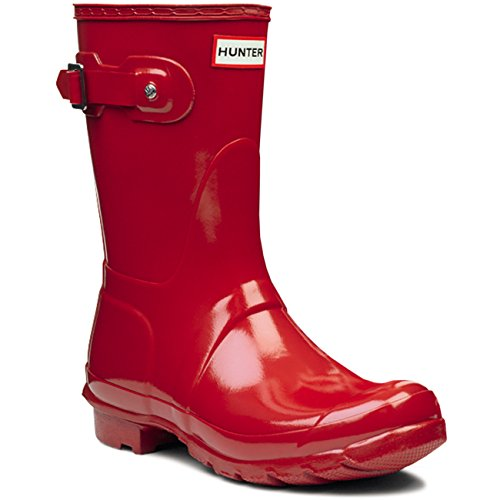 Womens Hunter Original Short Gloss Winter Festival Rain Wellington Boots - Military Red - 7 by Hunter