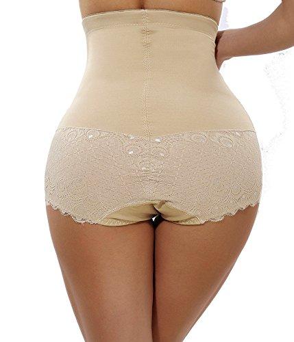 Womens High Waist C-Section Recovery Slimming Underwear Tummy Control Panties(2XL Fits 31.4-34.2 Inch Waistline, Beige)