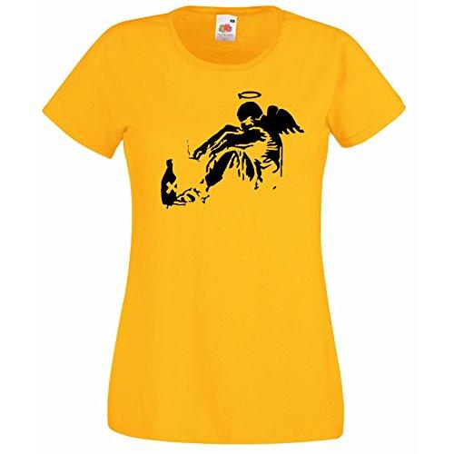 Decalcomania T Fallen T shirt con Design Angel Graffiti lusso T Banksy bottiglia donna Rome Of giallo shirt Street gratis da maglietta Loom gigante da The Art Fruit regalo super shirt O1WqUwqFn