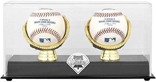 - Philadelphia Phillies Gold Glove Double Baseball Logo Display Case