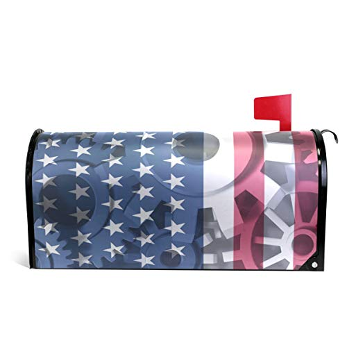 Economy Replacement Flags - WOOR American Flag Economy Symbol Magnetic Mailbox Cover Standard Size-18