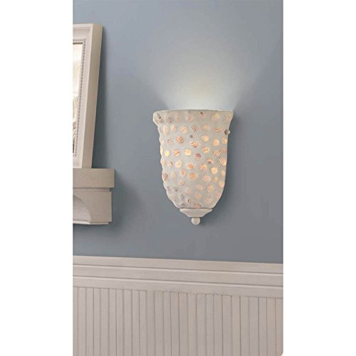 Portfolio 9-in W 1-Light White Pocket Hardwired Wall Sconce - Beachfront Decor