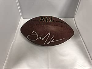 Julian Edelman Autographed Signed New England Patriots NFL Football Certified With COA & Hologram