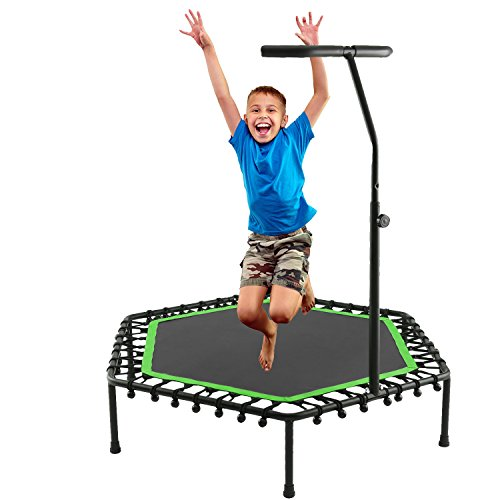 shaofu Mini Rebounder Trampoline Exercise Fitness Indoor Trampolines for Kids Adults